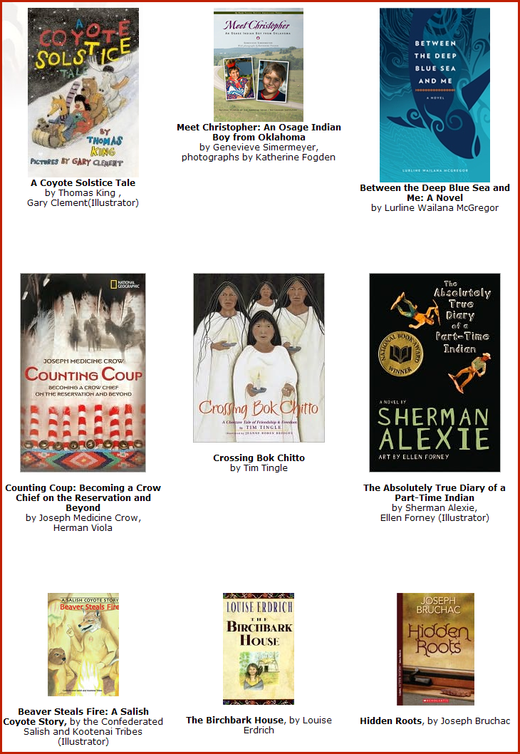 Alkek Library News: Juvenile Exhibit for Native American Month, 6th